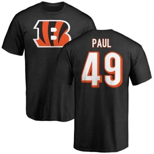 Gionni Paul Cincinnati Bengals Men's Black Any Name & Number Logo T-Shirt -